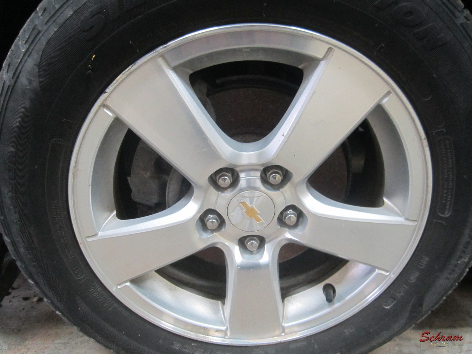 2012 CRUZE Wheel (5 single spoke, opt WR6)